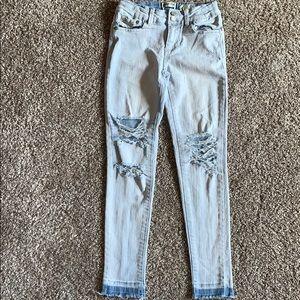 Indigo Rein skinny jeans distressed holes